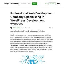 Professional Web Development Company Specializing in WordPress Development websites