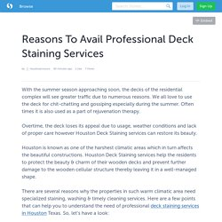 Reasons To Avail Professional Deck Staining Services