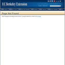 Professional Program in Sustainable Design — UC Berkeley Extension