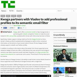 Kwaga partners with Viadeo to add professional profiles to its semantic email filter