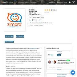 Online Download Zimbra Network Edition Professional- Techjockey