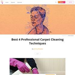 Best 4 Professional Carpet Cleaning Techniques