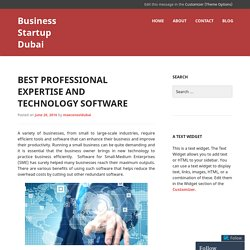 Best Professional Expertise and Technology Software