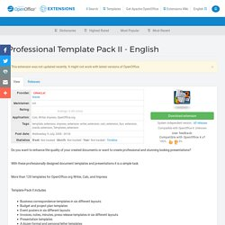Professional Template Pack II - English