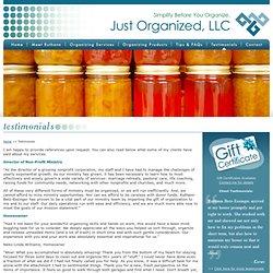 Birmingham Professional Organizer - Just Organized: Client Testimonials