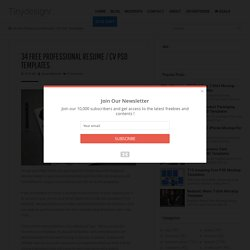 34 Free Professional Resume / CV PSD Templates