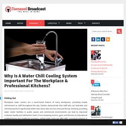 Why Is A Water Chill Cooling System Important For The Workplace & Professional Kitchens?