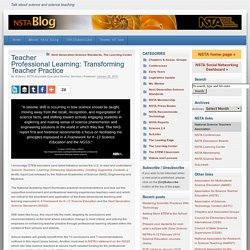 Teacher Professional Learning: Transforming Teacher Practice
