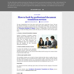 How to look for professional document translation services ~ Aubut & Associates Inc