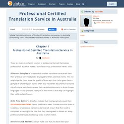 Professional Certified Translation Service in Australia