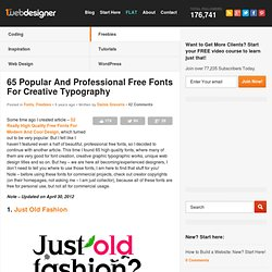 65 Popular And Professional Free Fonts For Creative Typography