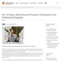 For 13 Years, Welin Kusuma Pursues 18 Academic And Professional Degrees