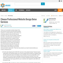 Choose Professional Website Design Boise Services