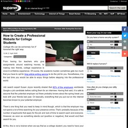 How to Create a Professional Website for College Students - Supanet
