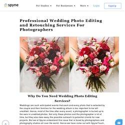 Professional Wedding photo editing services