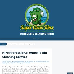 Hire Professional Wheelie Bin Cleaning Service