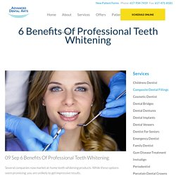 6 Benefits Of Professional Teeth Whitening