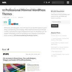 10 Professional Minimal WordPress Themes | Resources
