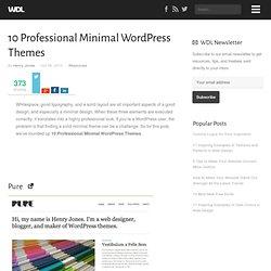 10 Professional Minimal WordPress Themes