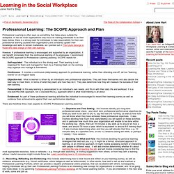 Professional Learning: The SCOPE Approach and Plan
