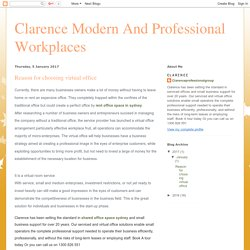 Clarence Modern And Professional Workplaces : Reason for choosing virtual office