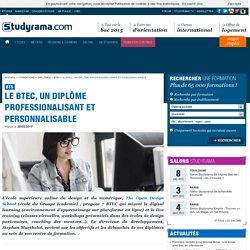 Le BTEC, un diplôme professionalisant et personnalisable