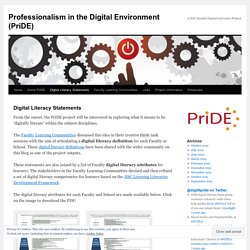 Professionalism in the Digital Environment (PriDE)