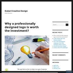 Why a professionally designed logo is worth the investment? – Dubai Creative Design