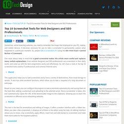 Top 10 Screenshot Tools for Web Designers and SEO Professionals