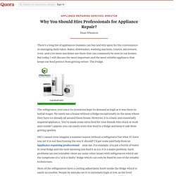 Why You Should Hire Professionals for Appliance Repair?