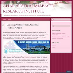 Leading Professionals Academic Journal Article