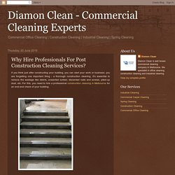 Importance of Professionals for Post Construction Cleaning