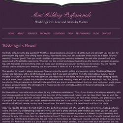 Hawaii beach weddings Maui - Maui Wedding Planners