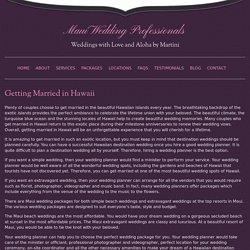simple Maui wedding - Maui Wedding Planners
