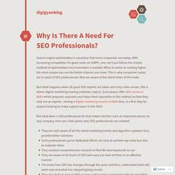 Why Is There A Need For SEO Professionals?