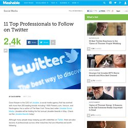 11 Top Professionals to Follow on Twitter