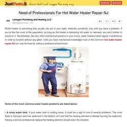 Need of Professionals For Hot Water Heater Repair NJ
