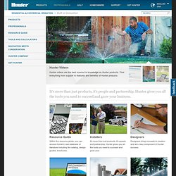 Hunter Industries: Irrigation Designers