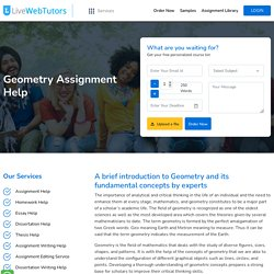 Geometry Assignment Help by Professionals in Canada
