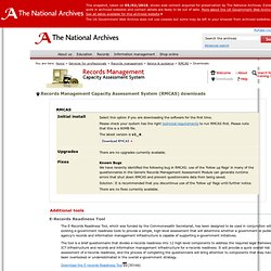 The National Archives | Services for professionals | Records Management Capacity Assessment System (RMCAS) | Downloads