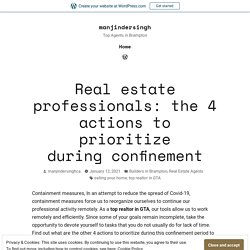 Real estate professionals: the 4 actions to prioritize during confinement – manjindersingh