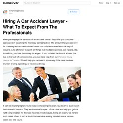 Hiring A Car Accident Lawyer - What To Expect From The Professionals