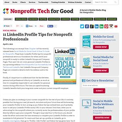 11 LinkedIn Profile Tips for Nonprofit Professionals