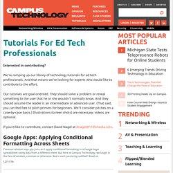 Tutorials For Ed Tech Professionals