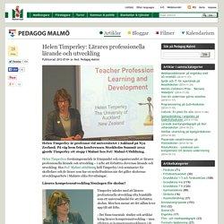 Helen Timperley: Lärares professionella lärande och utveckling