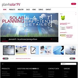 Professionelle Photovoltaik Planungs-Software