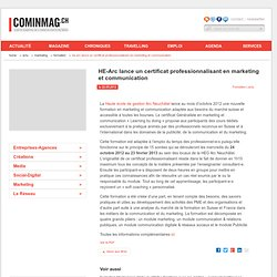HE-Arc lance un certificat professionnalisant en marketing et communication