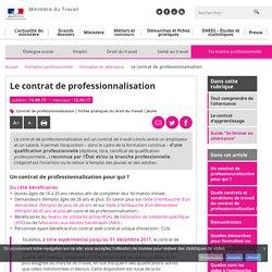 Le contrat de professionnalisation - Formation en alternance