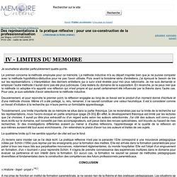 Des représentations à la pratique réflexive : pour une co-construction de la professionnalisation - Maguy LUCOT-MEUNIER
