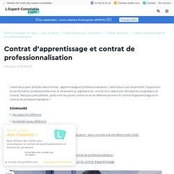 Contrat d'apprentissage et contrat de professionnalisation